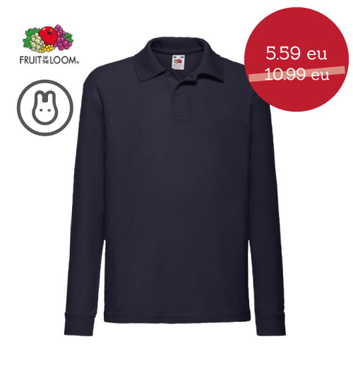 IŠPARDAVIMAS Polo marškinėliai vaikams  578.01 63-201-0 FRUIT OF THE LOOM