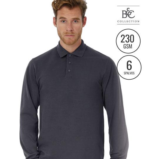 Marškinėliai Heavymill LSL 565.42 PU423 B&C