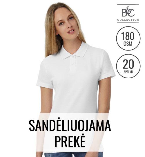 Polo marškinėliai Pique BC ID.001/women 547.42 PWI11 B&C