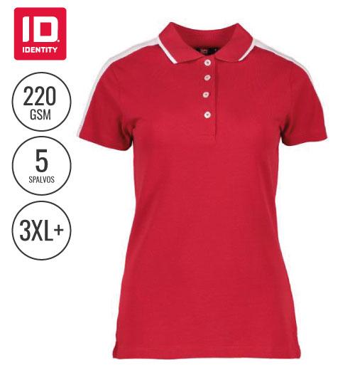 Polo marškinėliai Contrast Band Ladies' 0531 ID IDENTITY