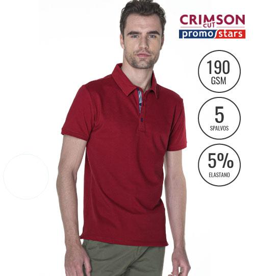 Polo marškinėliai Mars 42320 CRIMSON CUT PROMOSTARS