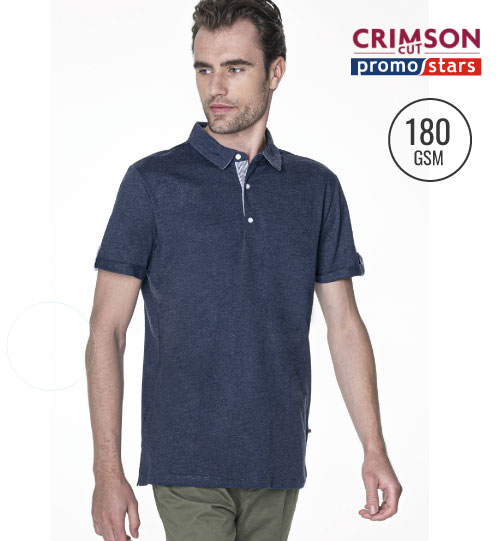 Polo marškinėliai PATT 42500 CRIMSON CUT PROMOSTARS