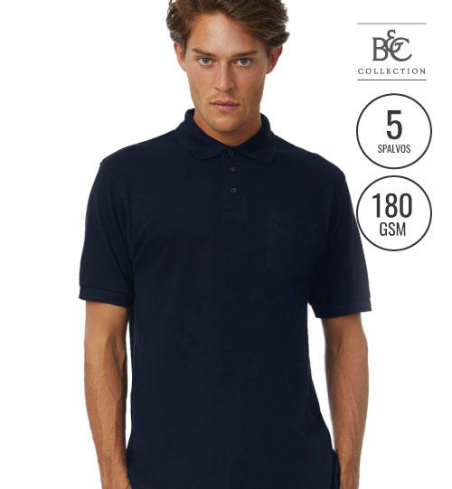 Polo marškinėliai  SAFRAN POCKET 574.42 PU415 B&C