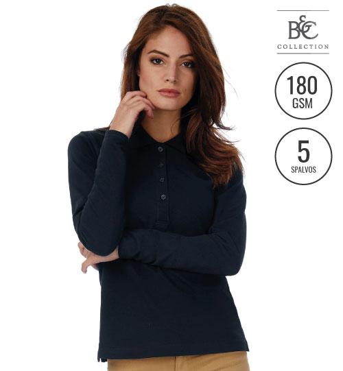 Polo marškinėliai Safran Pure LSL/women 520.42 PW456 B&C