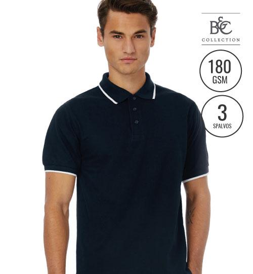 Polo marškinėliai  SAFRAN SPORT TIPPED 540.42  PU413  B&C