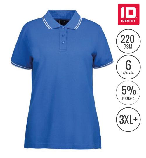Polo marškinėliai Stretch contrast Ladies 0523 ID IDENTITY