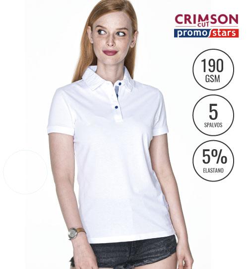 Polo marškinėliai Venus 42323 CRIMSON CUT PROMOSTARS
