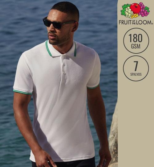 Polo marškinėliai Premium Tipped 556.01 63-032-0 FRUIT OF THE LOOM
