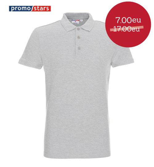 IŠPARDAVIMAS Polo marškinėliai Cotton SLIM 42254 PROMOSTARS