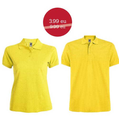 IŠPARDAVIMAS Polo marškinėliai Star woman 6634 / Star man 6638 ROLY