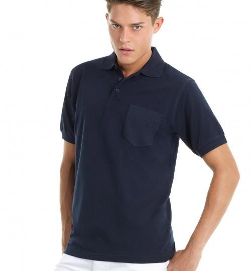 Polo marškinėliai B&C SAFRAN POCKET > PU415
