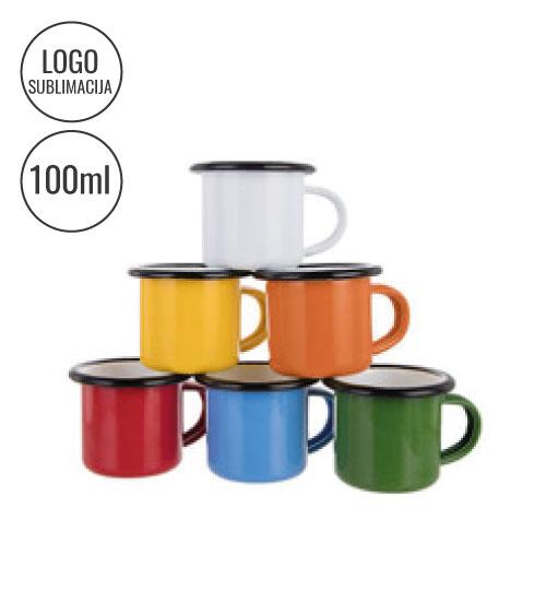 Metaliniai emaliuoti puodeliai 100 ml Sublimaciniai EU-TC08O-K