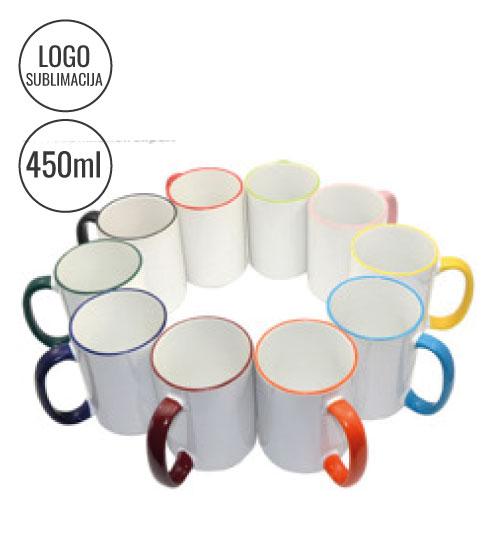 Puodeliai su spalvotom rankenom MAX 450 ml EU-B21BPC