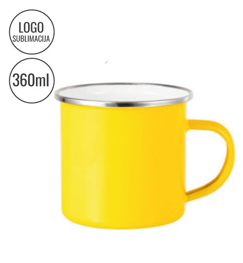 Metalinis puodelis 360 ml Sublimation EU-TC03