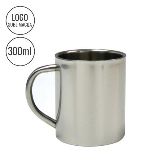 Nerūdijančio plieno puodelis 300 ml EU-B10G