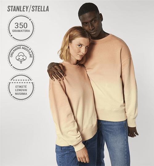 Pereinančių spalvų džemperis Stanley/Stella Lietuva Radder Dip Dye  STSU 859 Unisex