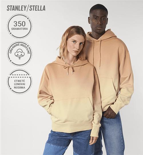 Pereinančių spalvų džemperis su gobtuvu Stanley/Stella Slammer Dip Dye STSU 858 Unisex