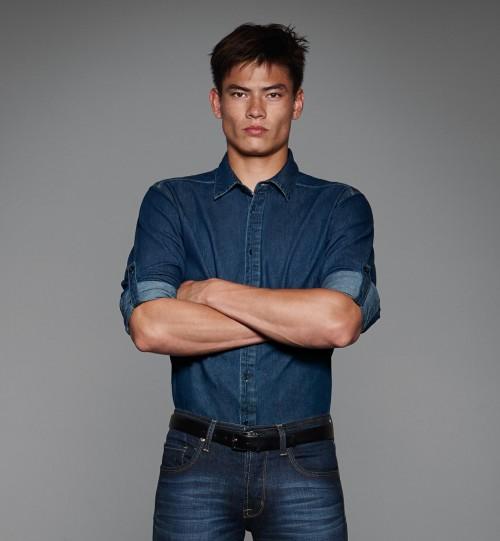 Džinsiniai marškiniai B&C DNM VISION /MEN