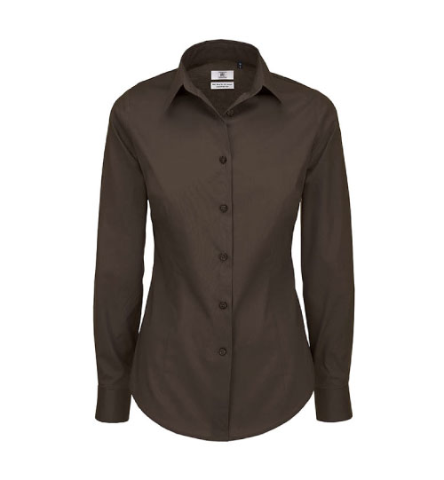 Marškiniai  Black Tie LSL/Women SW P23 B&C