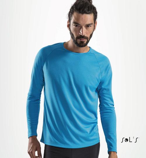 Sportiniai marškinėliai SPORTY LSL MEN 02071 SOLS