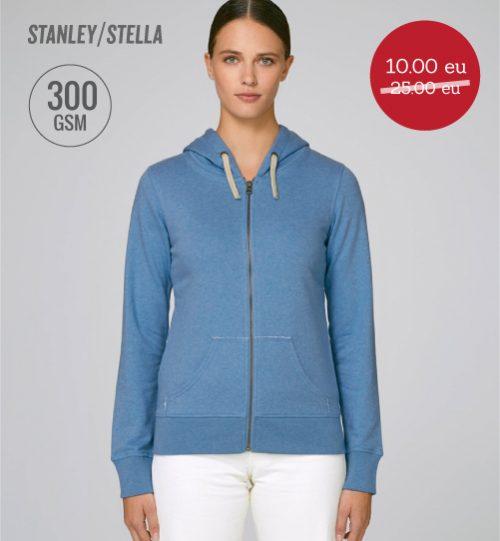 IŠPARDAVIMAS Džemperis Stanley Stella Travels Zipped hoodie STSW 127 women