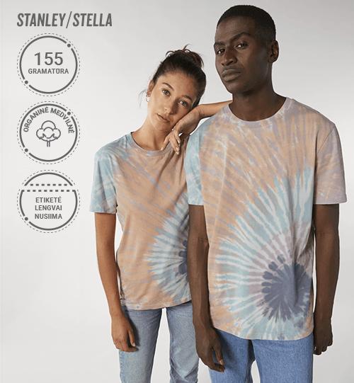Marškinėliai Stanley/Stella Creator Tie and Dye STTU 757 Unisex