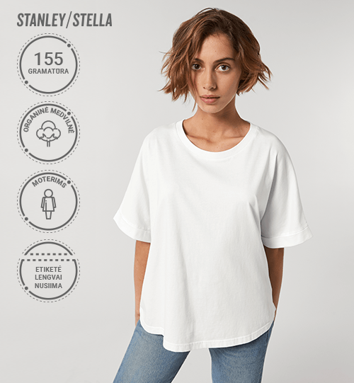 Marškinėliai Stanley/Stella Stella Collider Vintage STTW 068 Women