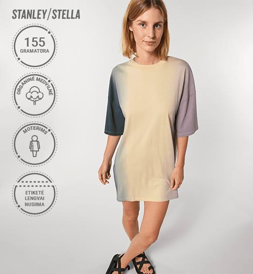 Marškinėliai/suknelė Stanley/Stella Lietuva Stella Twister Dip Dye STDW 160 Women