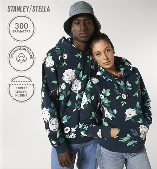 Džemperis Stanley/Stella Cruiser AOP su gėlėtu raštu STSU 825 Unisex