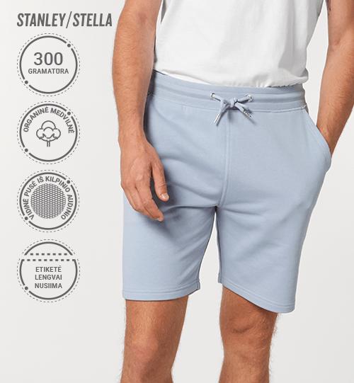 Šortai Stanley/Stella Trainer STBU 578 vidinė pusė kilpinis audinys Unisex