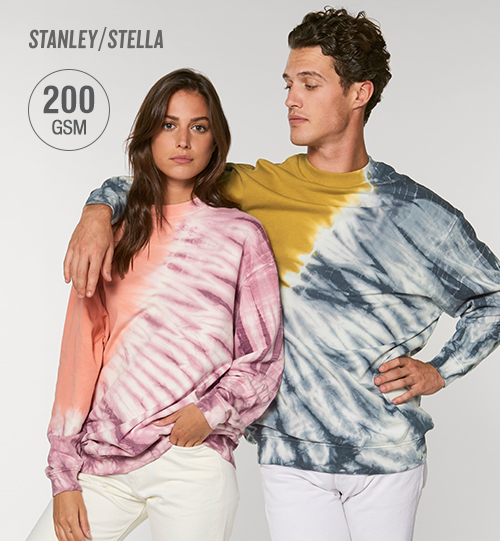 Džemperis Stanley Stella Firer Tie And Dye STSU852 vidinė pusė kilpinis audinys Unisex