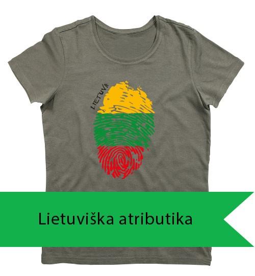 Spaudas su lietuviška atributika