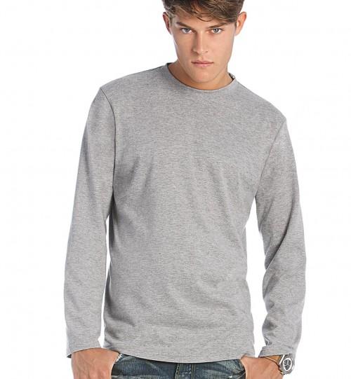 Marškinėliai vyriški B&C EXACT 190 LSL > TU005