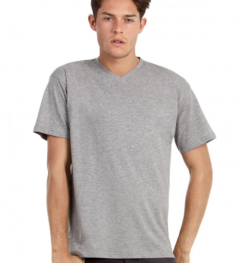 Vyriški marškinėliai B&C EXACT V-NECK > TU006