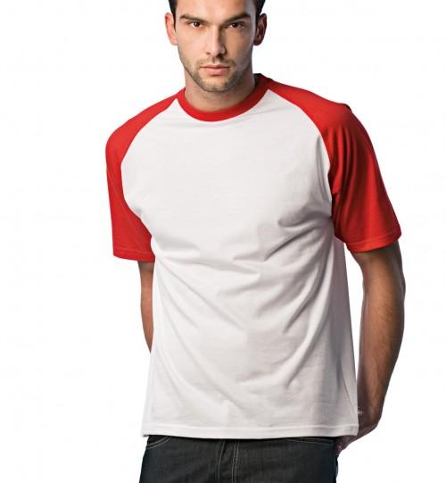 Marškinėliai vyriški  B&C BASE-BALL > TU020
