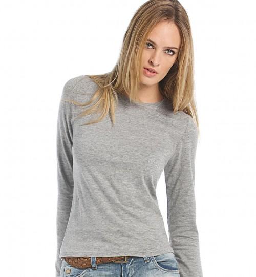 Marškinėliai B&C WOMEN-ONLY LSL > TW013