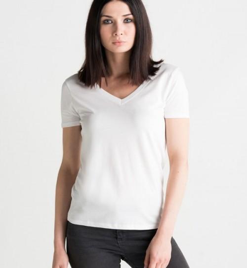 Marškinėliai moterims Mantis Organic V neck  M119