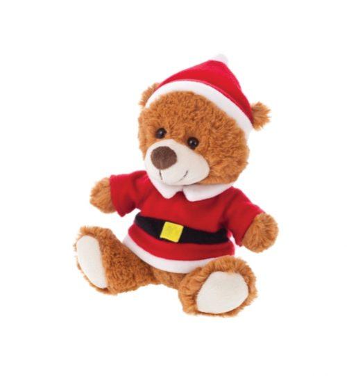 Pliušinis žaislas Kalėdinis meškiukas HE203-16