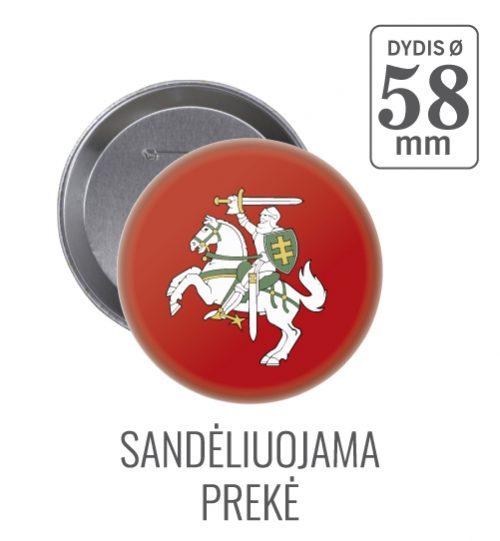 Apvalus ženkliukas Lietuvos herbas Vytis Ø 58 mm