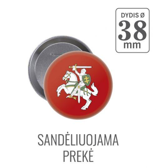 Apvalus ženkliukas Lietuvos herbas Vytis Ø 38 mm