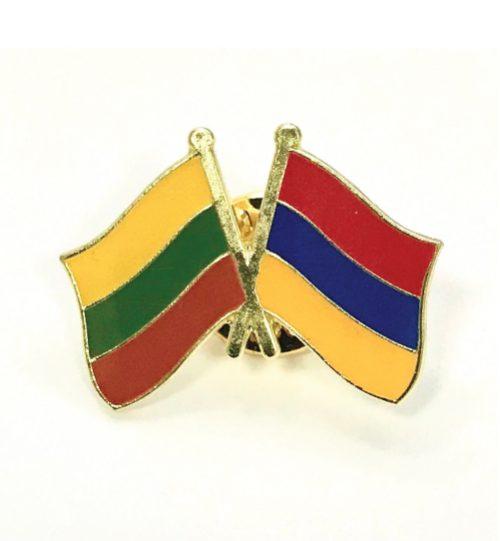 Ženkliukas Lietuvos ir Armėnijos vėliavos