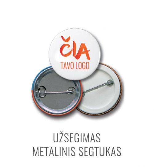 Ženkliuko užsegimas metalinis segtukas