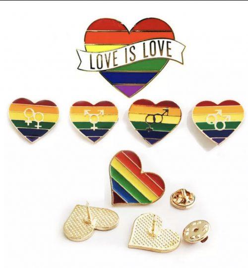 Ženkliukas Vaivorykštė LGBT Love is Love (Ženkliukų gamyba)