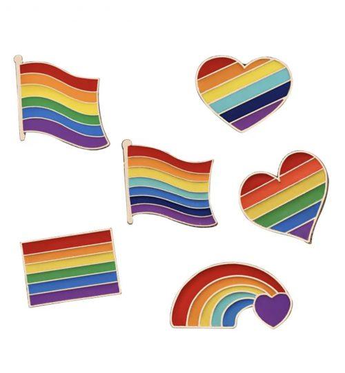 Metalinis ženkliukas Vaivorykštė LGBT mix