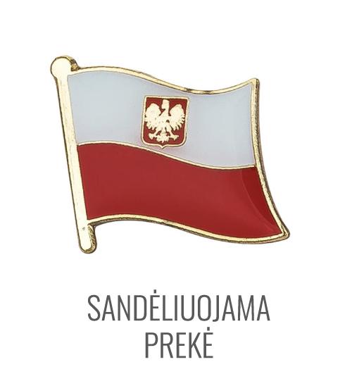 Ženkliukas Lenkijos vėliava su herbu