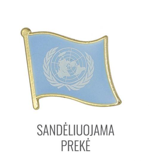 Ženkliukas Jungtinių Tautų Organizacijos vėliava (Ženkliukas JTO vėliava)