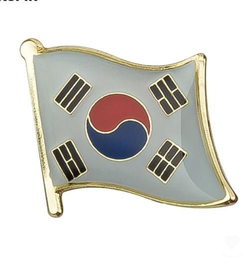Ženkliukas Pietų Korėjos vėliava (ženkliukų gamyba)
